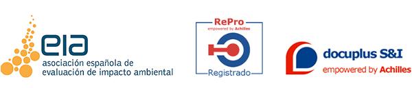 Miembro de asociación Español de Impacto Ambiente y empresa certificada RePro y Docuplus